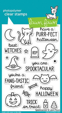 Lawn Fawn - Halloween - Clear Acrylic Stamps - Spooktacular
