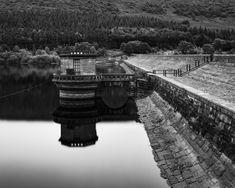 Ladybower Dam Valve Tower, Ladybower Reservoir, Peak District National Park, Hope Valley, England  #architecture #britain #british #building #dam #district #england #english #hope #kingdom #ladybower #landscape #national #outdoors #park #peak #reservoir #tower #uk #united #valley #valve