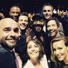 Nice bunch to go to work with @CW_network MzKatieCassidy Willaaaah amellywood grantgust david_ramsey CavanaghTom #Arrow #TheFlash - Paul