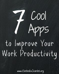 Here is a list of a few good apps that will help you boost your productivity at work.