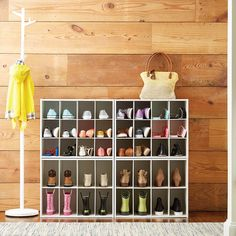 This shoe storage solution will expand as your shoe collection grows. But thats not the only way to store shoes an under bed shoe organizer can keep lots of pairs out of sight but in quick access and over the door shoe storage can make. Shoe Storage Cabinet, Bench With Shoe Storage, Closet Storage, Closet Organization, Organization Ideas, Organizing Shoes, Shoe Closet, Shoe Rack Store, Diy Shoe Rack
