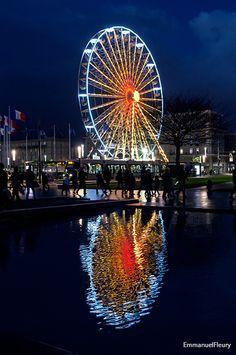 La #grande #roue et ces reflets nous émerveillent chaque année au #Havre