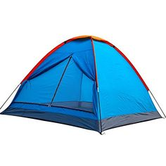 Generic Large Space 6 Person Tent Blue >>> Details can be found by clicking on the image.
