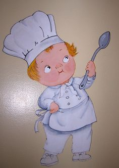 I PAINTED THIS CAMPBELL CHEF ON MY KITCHEN WALL....WOODWARD FARM