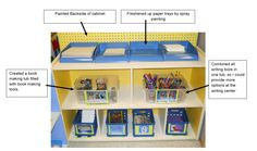 "Learning and Teaching With Preschoolers: Writing Center Makeover - great ""before & after"" pictures."