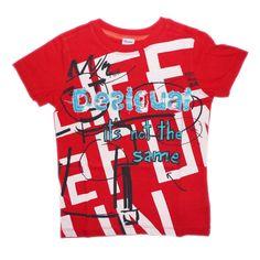 Desigual red tee shirt - TrendyBrandyKids - European trendy clothes for boys and girls. Catimini, Desigual, Deux par Deux, Diesel, Halabaloo, Ikks, Jean Bourget, Marese, Me Too, Mim Pi, Pom Pom Casual.