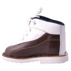 Papuci ortopedici MA   papucei maro inchis si alb