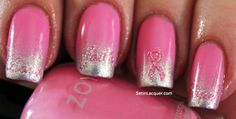 how to show off your breast cancer awareness nail art decals in style!