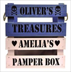 children's personalised crate gift box by rose cottage | notonthehighstreet.com