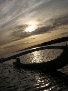 Outrigger Canoe on Molokai at Dusk after a great paddle with the girls