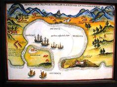1626年荷蘭人Formosa臺灣 大員(今臺南安平)港口圖 日本人部落