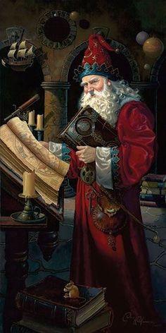 St. Nicholas SANTA CLAUS Father Christmas, I love this one! Great looking Santa #santa