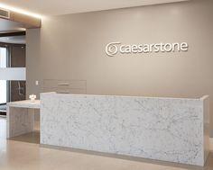 6 5143 White Attica™ - Caesarstone Melbourne Showroom