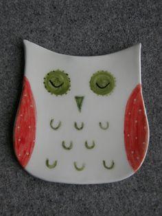 Ceramic Owl BowlSpoon HolderCeramic Spoon by TatjanaCeramics
