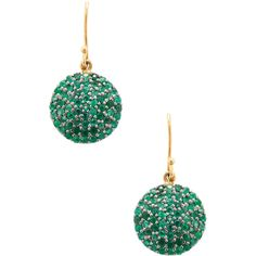 Karma Jewels Women's Silver & Emerald Disc Drop Earrings ($850) ❤ liked on Polyvore featuring jewelry, earrings, no color, silver earrings, silver jewelry, fishhook earrings, long earrings and disc earrings