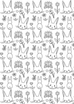 FREE printable bunny coloring page | #easter #coloring