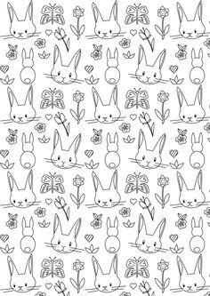 Free printable bunny coloring page - ausdruckbares Ausmalpapier - freebie   MeinLilaPark – DIY printables and downloads
