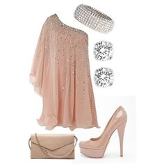 Muted Pink Blush Bedazzled Off The Shoulder Cocktail Dress Mini