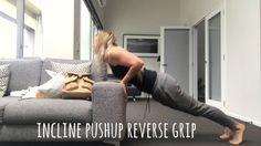 Incline pushup reverse grip - YouTube Push Up, Exercises, Youtube, Exercise, Training Exercises