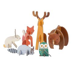 Petit Collage | Woodland Animal Pop-out and Play