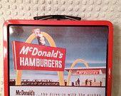 vintage style Mc Donalds lunch box