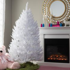 White-Xmas-Tree-5-1-2-ft-Christmas-Artificial-Fir-Decorations-Holiday-Tabletop