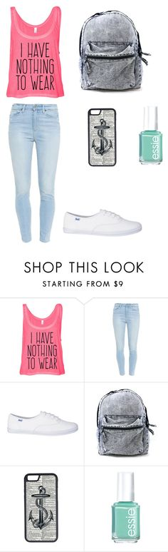 """Untitled #14"" by thequeenofinspiration ❤ liked on Polyvore featuring Paige Denim, CellPowerCases and Essie"