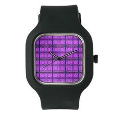 Bright Pink Mod Circle Watch #cafepress #style #gifts #jewelry