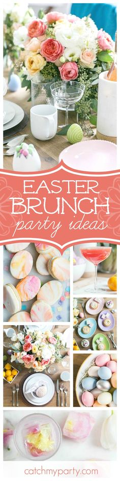 Make sure you don't miss this Charming Pastel Easter Brunch. The rustic table settings are gorgeous!! See more party ideas and share yours at CatchMyParty.com