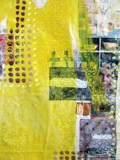 Judy's Journal: Fabric and Paper collage