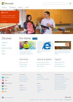 Flat Web Design, House Windows, Windows Phone, Throughout The World, Helping People, Microsoft, Website, Modern, Minimalist Web Design