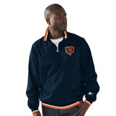 Chicago Bears Starter Player Quarter-Zip Jacket - Navy