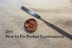 DIY: How to Fix Broken Eyeshadows