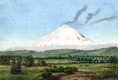 Volcán [[Dibujo]] Contiene: vista de volcán en actividad Ecuador. http://aleph.csic.es/F?func=find-c&ccl_term=SYS%3D000007608&local_base=ARCHIVOS