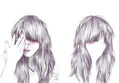 art, drawing, female, girl, illustration, long hair