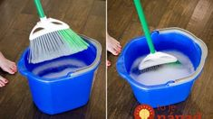 We use our brooms to clean which means they can get pretty gross. To clean your broom, soak it in a buck of warm water and dish soap. Let it air dry before you put it away. You should also spray your brooms with disinfectant after each use. Household Cleaning Tips, Deep Cleaning Tips, Toilet Cleaning, House Cleaning Tips, Cleaning Solutions, Cleaning Hacks, Bathroom Cleaning, Spring Cleaning Tips, Cleaning Checklist