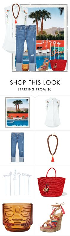 """Friday in Palm Springs"" by easy-dressing ❤ liked on Polyvore featuring Steve J & Yoni P, Zara, BaubleBar, Sensi Studio, CB2, Schutz, WhatToWear, palmsprings, polyvoreeditorial and cuffJeans"