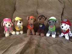 Crochet amigurumi Paw Patrol puppies