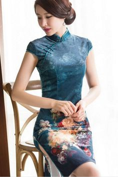 Qibao Chinese style dresses of pretty women Oriental Dress, Cheongsam Dress, Sexy, Kimono Dress, Beautiful Asian Women, Ao Dai, China Fashion, Sensual, Traditional Dresses
