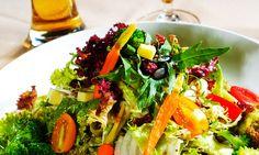 Salada de folhas e chia