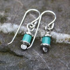 Reels  -Turquoise and silver  earrings £15.00