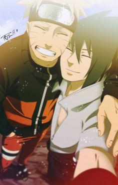 His smile     Sasuke's smile  NaruSasu