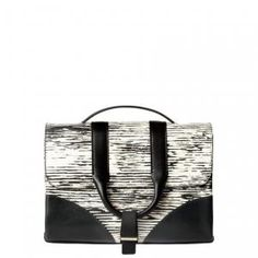 50% off Jason Wu - Messenger Bag Hanne Printed Calfskin Leather Black and White - $697.50 #jasonwu #messengerbag #calfskin