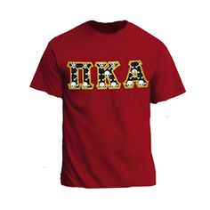 Fraternity Sewn-On Twill Letter T-Shirt - Gildan 5000