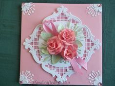 Joycrafts frame | It is using the Square Lacy Frame a Joy Crafts die 6002/0147