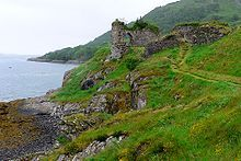 Strome Castle is a ruined castle on the shore of Loch Carron in Stromemore, 3.5 miles south-west of the village of Lochcarron, on the west c...