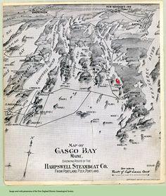 Map Of Malaga Island Maine