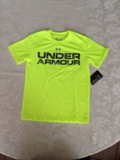 Under Armour Toddler Youth Boy UA Branded Tee Top T-shirt Size 5 NWT