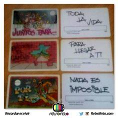 Chicas... ¿Recuerdan las tarjetas plastificadas? RetroReto.com