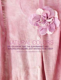 Natural Dye Recipes